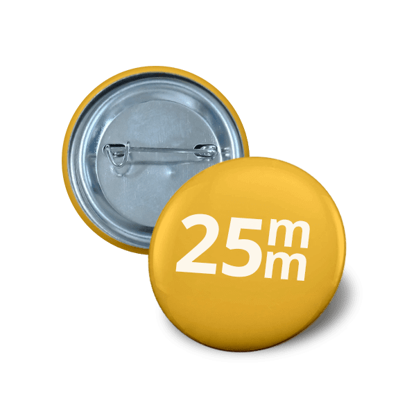 pin button 25mm