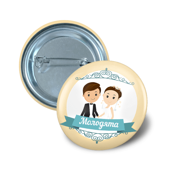 Pin button 32 mm marriage