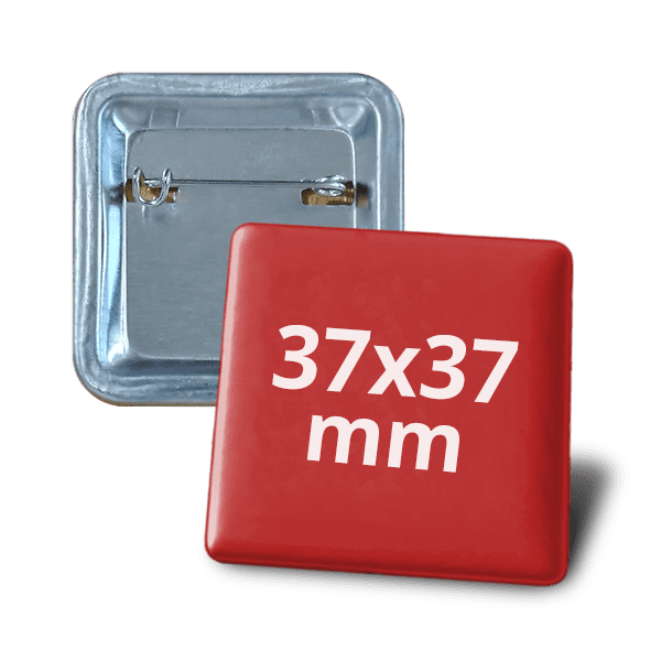 Square badge 37х37mm