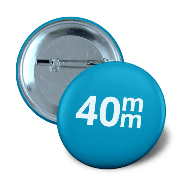 Pin button 40mm