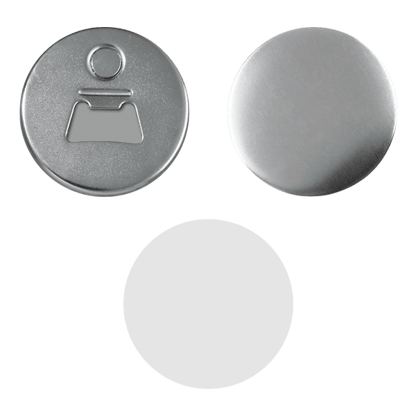Bottle-opener blank for buttons 58mm