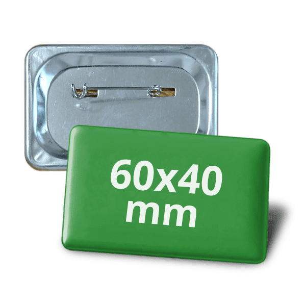 Square badge 60х40mm