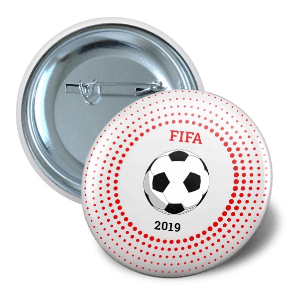 Pin button 65mm sport