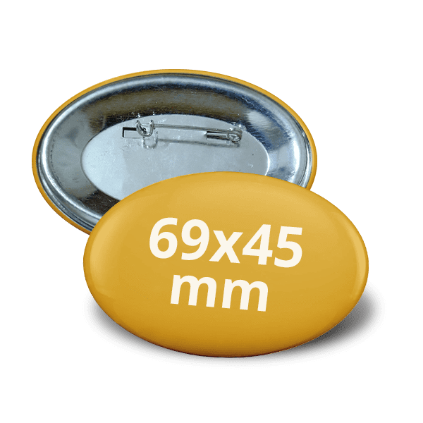 Oval pin button