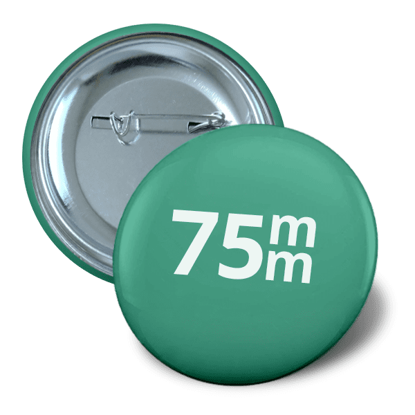Pin button 75mm